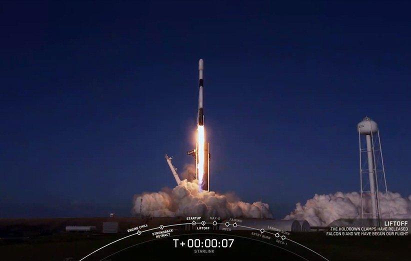 اسپیس ایکس شمار ماهواره های فعال استارلینک را به نزدیک 800 رساند